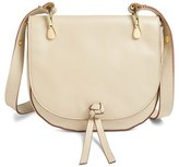 Elizabeth and James 'Zoe' Leather Saddle Bag - White