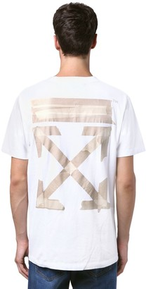 Off-White Off White PRINT TAPE ARROWS SLIM JERSEY T-SHIRT