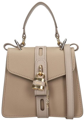 Chloé Aby Hand Bag In Grey Leather