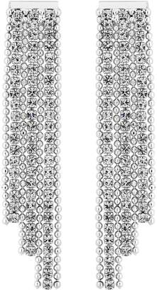 Jon Richard Silver Plated Crystal Diamante Tassel Drop Earrings