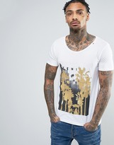 Replay Venice Gold Palms T-Shirt