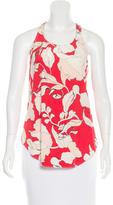 Derek Lam 10 Crosby Silk Floral Print Top