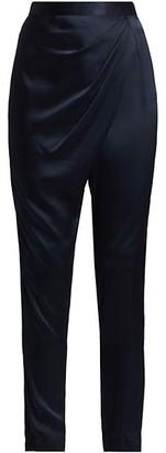 Mason by Michelle Mason Draped Silk Pants