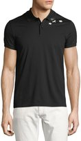 Saint Laurent Star-Collar Cotton Pique Polo Shirt