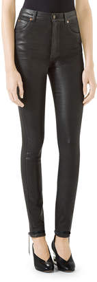 Gucci Coated Denim Skinny Pants