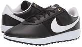 Nike Cortez G (Black/White/Metallic Gold) Women's Golf Shoes