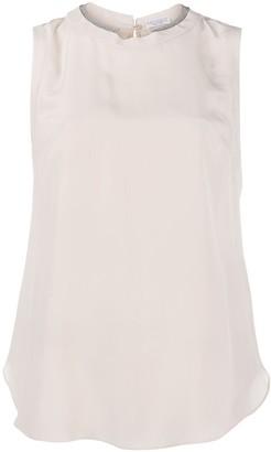 Brunello Cucinelli Sleeveless Silk Top