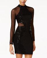 B. Darlin Juniors' Sequin Illusion Bodycon Dress