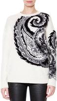 Just Cavalli Wool-Blend Paisley Jacquard Sweater