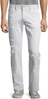 AG Jeans The Matchbox Slim-Fit Straight-Leg Jeans, 23-Year Distressed Gray