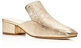 Marc Fisher Lailey Metallic Square Toe Loafer Mules