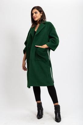 Liquorish Belted Forest Green Coat