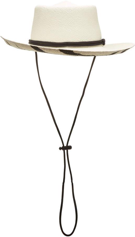e766aa0cb Studio Dumont Zebra-Print Straw Panama Hat