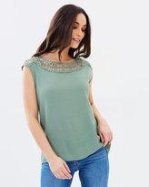 Oasis Lace Trim T-Shirt