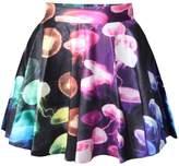 Jiayiqi Famous Van Gogh Skater Skirt Quiet Nights Mini Skirt for Women
