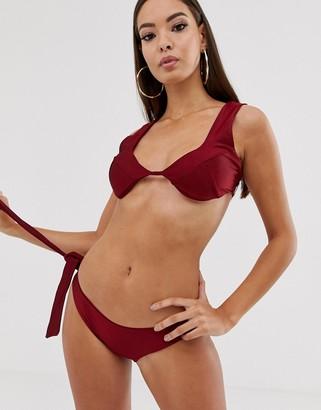 In The Style Scooped Cup Bikini Top