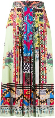 Etro Print Mix Pleated Skirt