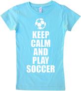 Micro Me Aqua 'Keep Calm and Play Soccer' Tee - Infant Toddler & Girls