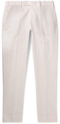 Privee Salle Gehry Slim-Fit Cotton And Linen-Blend Chinos
