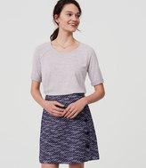 LOFT Tweed Side Button Skirt
