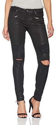 Tigha Women's Sacha Ripped Skinny Jeans, (Black Coated 903)