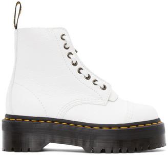 Dr. Martens White Sinclair Zip Boots