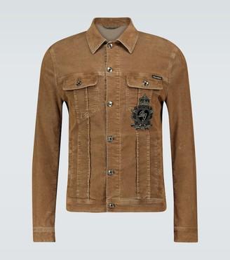 Dolce & Gabbana Boxy-fit corduroy jacket