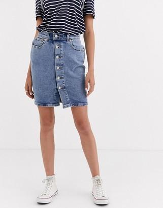 Levi's button through mom skirt-Blue