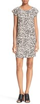 Joie Women's 'Weaver' Leopard Print Silk Shift Dress