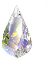 Swarovski 1 pc Crystal 6020 Helix Charm Pendant Clear AB / Findings / Crystallized Element