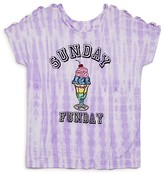 Flowers by Zoe Girls' Tie Dye Sunday Funday Tee - Sizes S-XL