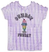 Flowers by Zoe Girls' Tie Dye Sunday Funday Tee - Sizes S-XL