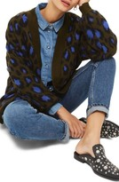 Topshop Women's Leopard Print Cardigan