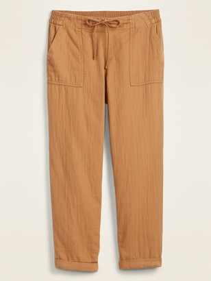 Old Navy Mid-Rise Soft-Twill Utility Pants for Women