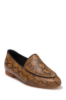 Kaanas Carmenere Snakeskin Print Loafer