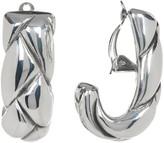 Simon Sebbag Sterling Silver Braided J Hoop Clip-On Earrings