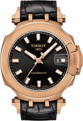 Tissot T-Sport Automatic Leather Strap Watch, 48mm