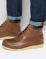 Original Penguin Boots In Tan Leather