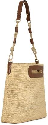 Vanessa Bruno Raffia and leather Holly Hobo bag