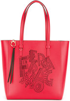 Salvatore Ferragamo patterned logo tote - women - Calf Leather - One Size