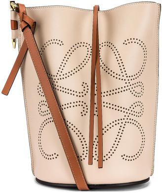 Loewe Gate Bucket Anagram Bag in Light Oat & Tan | FWRD