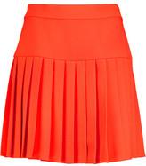 McQ Pleated Crepe Mini Skirt