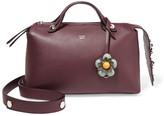 Fendi By The Way Small Embellished Floral-appliquéd Leather Shoulder Bag - Burgundy