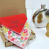 Adventures and Tea Parties Mix And Match Personalised Handkerchief : Red Rose