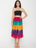 American Apparel Vintage Tie-Dyed Mid-Length Skirt