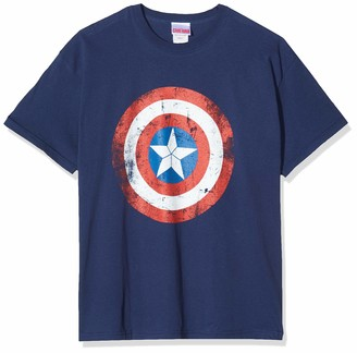 CID Men's Civil War-Captain America Shield Distressed T-Shirts