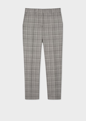 Paul Smith Women's Slim-Fit Wool-Blend Check Trousers