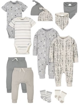 Modern Moments by Gerber Baby Boy Baby Shower Layette Gift Set, 12-Piece