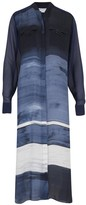 Amanda Wakeley Painterly Brushstroke Denim Shirt Dress