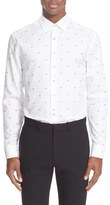Paul Smith 'Lips' Trim Fit Jacquard Dress Shirt
